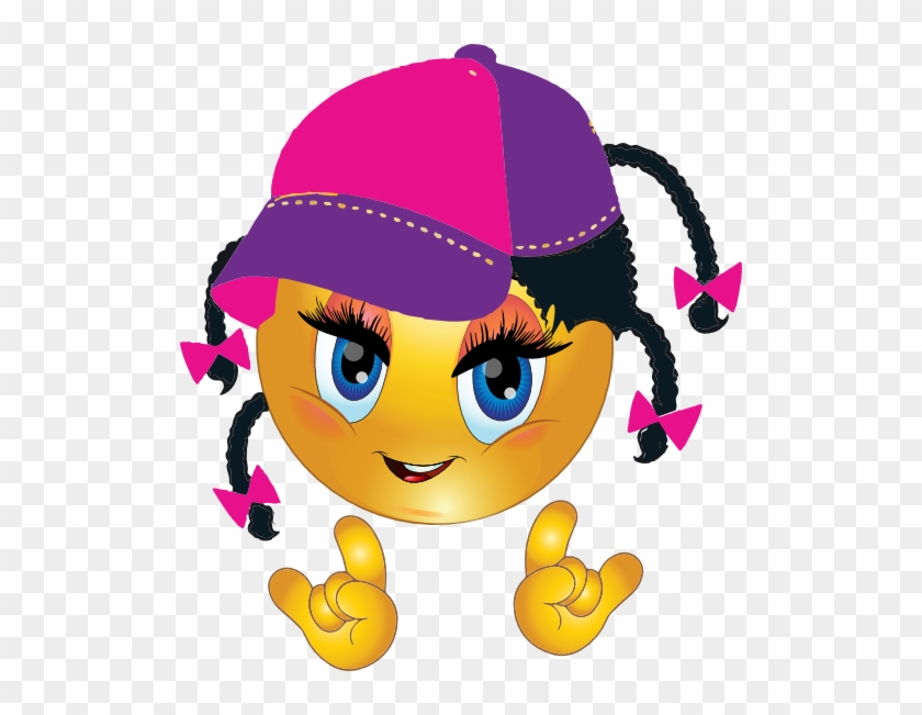Cool African Girl Smiley Emoticon Clipart I2clipart - Smiley Girl #291926