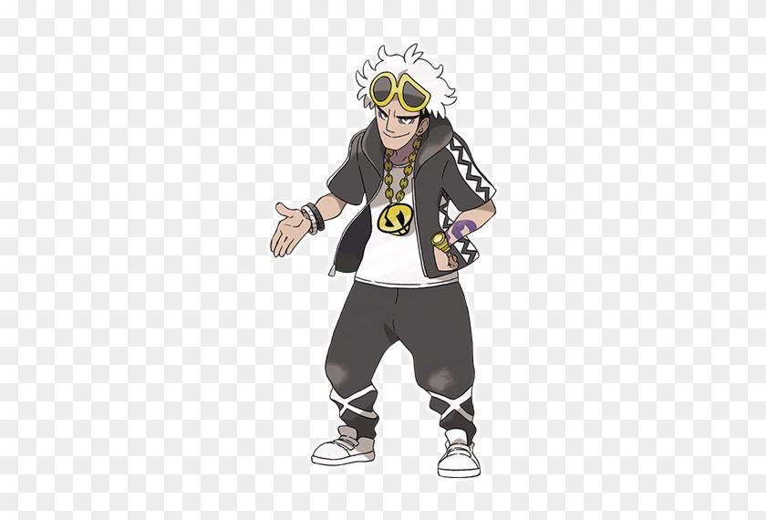 New Pokemon Sun And Moon Trailer And Screens Introduce - Pokemon Sun And Moon Team Skull Guzma Cosplay Costume #291932