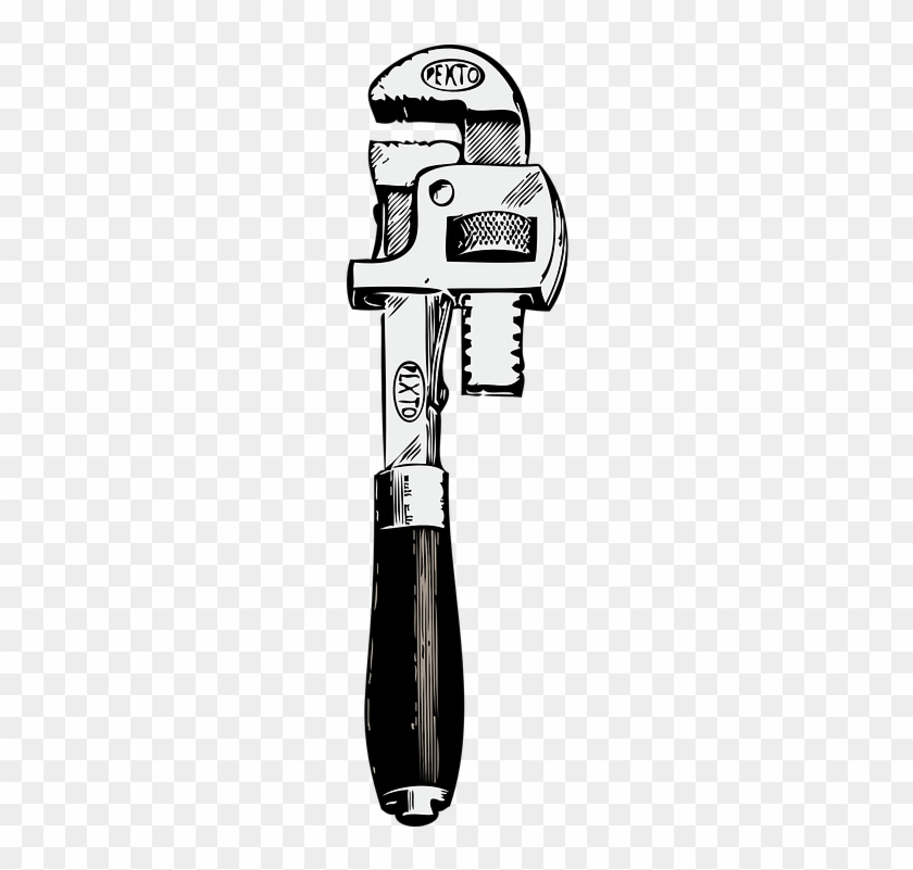 Pipe Clipart Plumber Tool - Pipe Wrench Clipart #291940