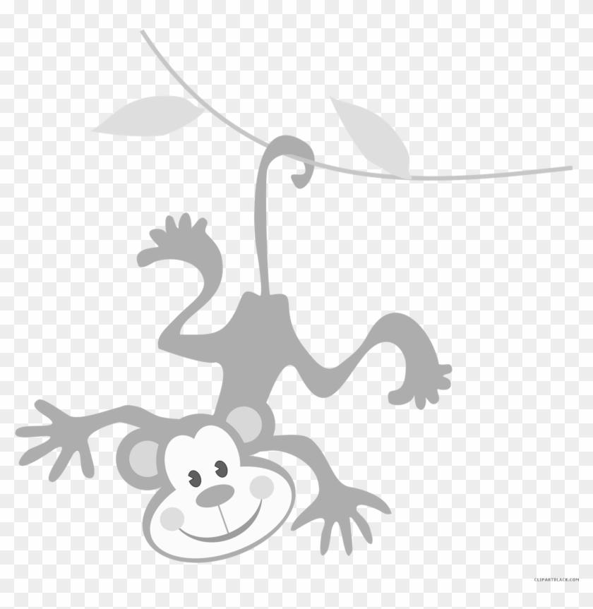 Monkey Animal Free Black White Clipart Images Clipartblack - Basic English #291948