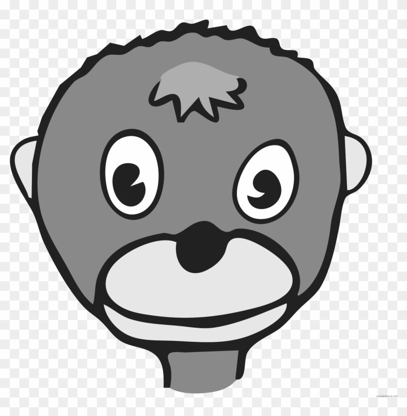 Monkey Animal Free Black White Clipart Images Clipartblack - Funny Monkey Face Mugs #291968