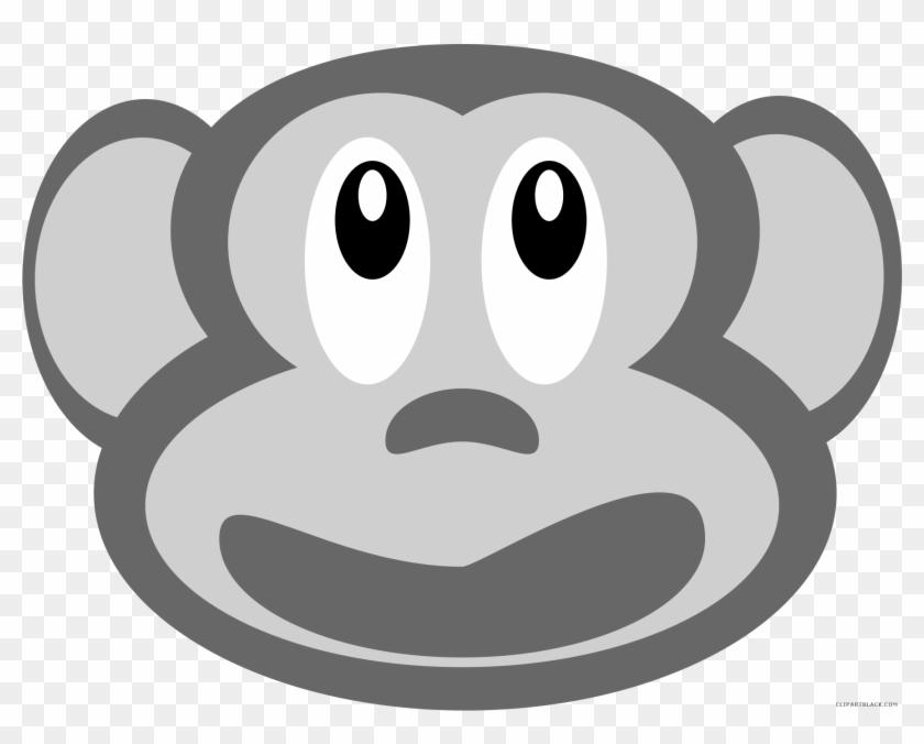 Monkey Face Animal Free Black White Clipart Images - Monkey Face Animal Free Black White Clipart Images #291970