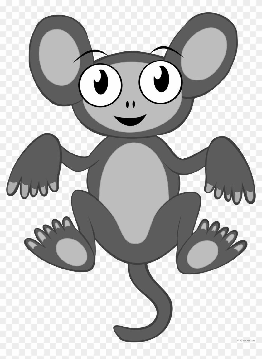 Monkey Animal Free Black White Clipart Images Clipartblack - Cartoon Monkey Shower Curtain #292005