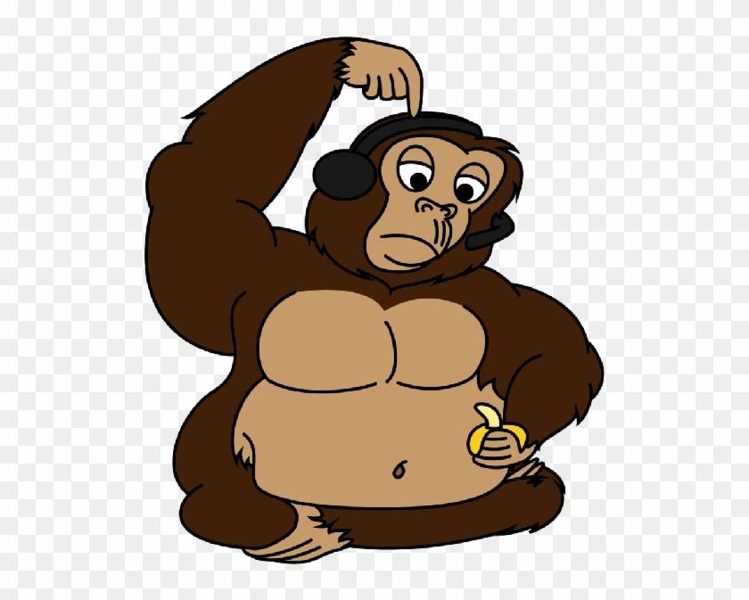 Brown Gorilla Cartoon Clip Art Images - Fat Monkey Clipart #292003