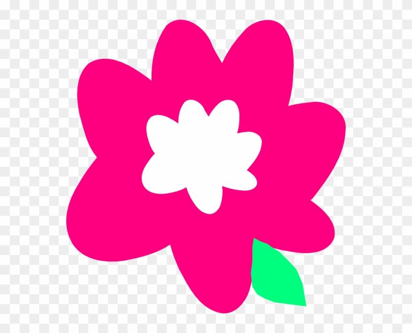 Pink Cartoon Flower Clip Art At Clker - Cartoon Flowers Vector Png #292039