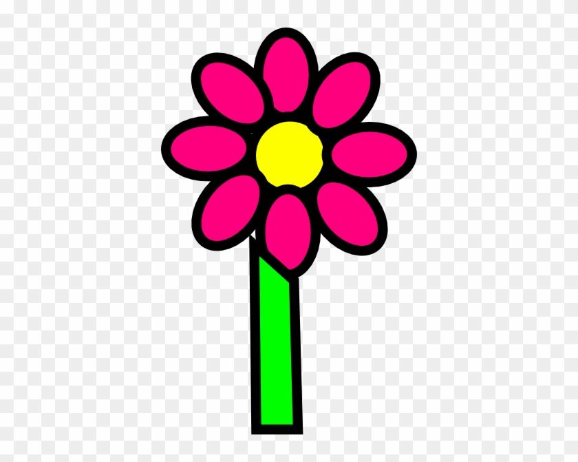 Stem Clipart Cartoon Flower - Flower And Stem Clipart #292054