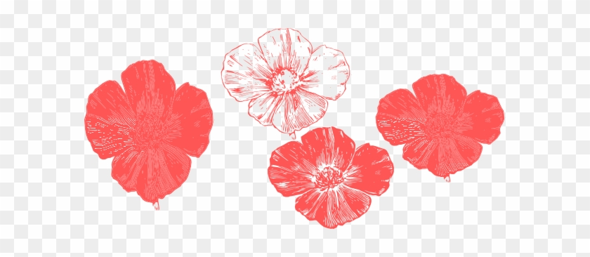 Peach Flower Clipart Transparent - Peach Poppy Flower Clipart #292062
