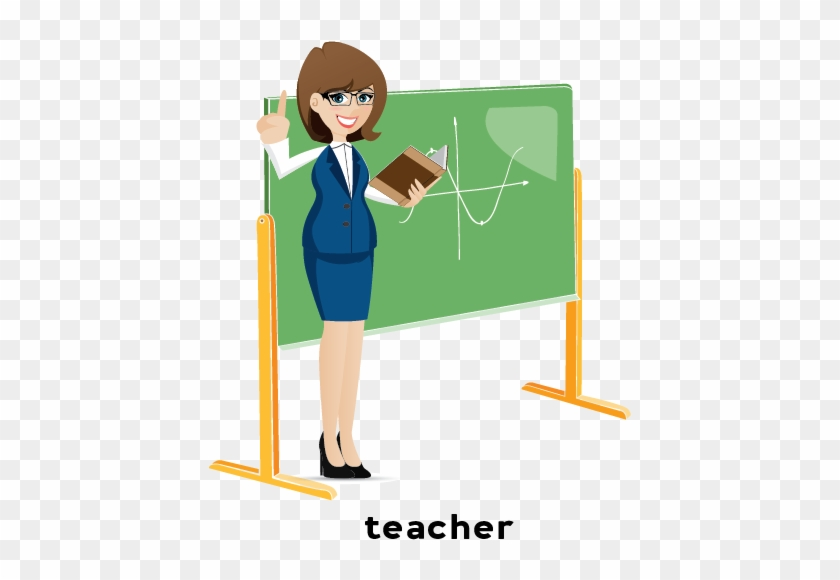 A Person Who Teaches Or Helps Others Learn Something - Cartoon #292080