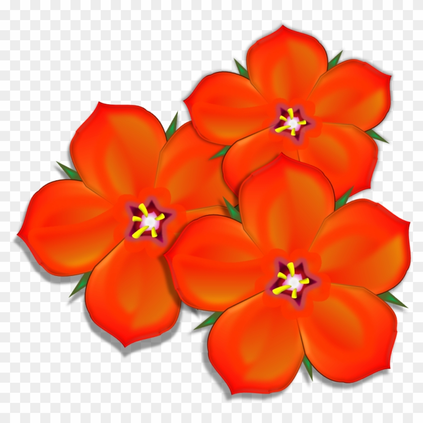 Scarlet Pimpernel Group Image - Scarlet Pimpernel Flower Cartoon #292081