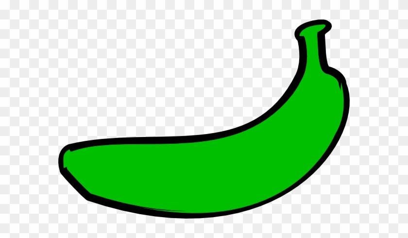 Banana Clip Art Free Vector In Open Office - Clip Art Green Banana #292095