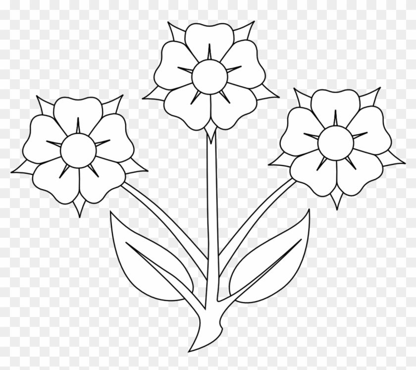 Black And White Flower Clip Art 3 Flowers Clipart Black And White