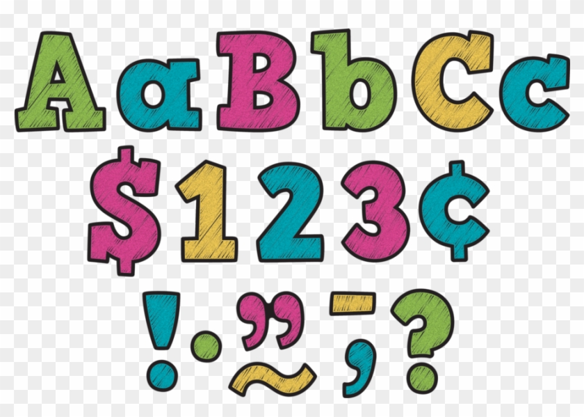 """Tcr3881 Chalkboard Brights Bold Block 3"""" Letters Image - Teacher Created Resources 4"""" Plaid Bold Block Letters #292125"""