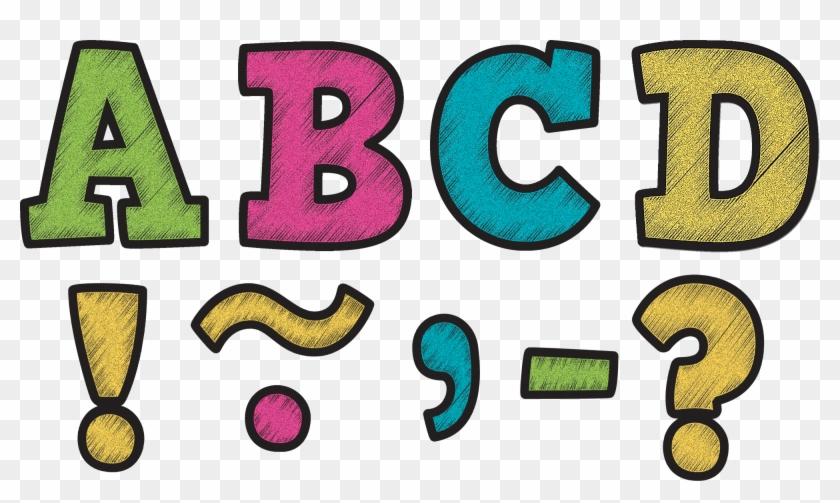 "Tcr77212 Chalkboard Brights Bold Block 3"" Magnetic - Whiteboard #292137"