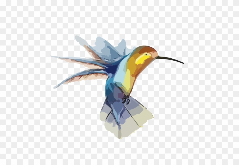 Hummingbird With Transparent Background Clip Art At - Elephant With A Hummingbird #292158