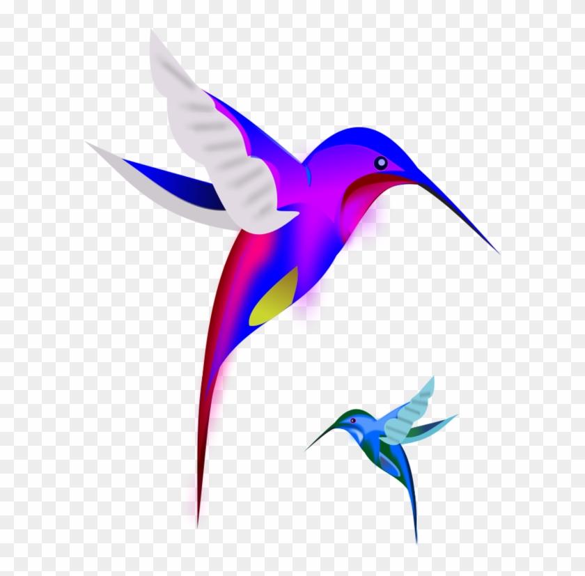 Colibri Birds Vector Clip Art - Colorful Hummingbirds Throw Blanket #292167