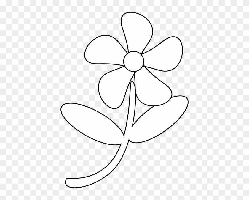 Black White Flower Clip Art - Clipart Black And White Flowers Transparent #292176