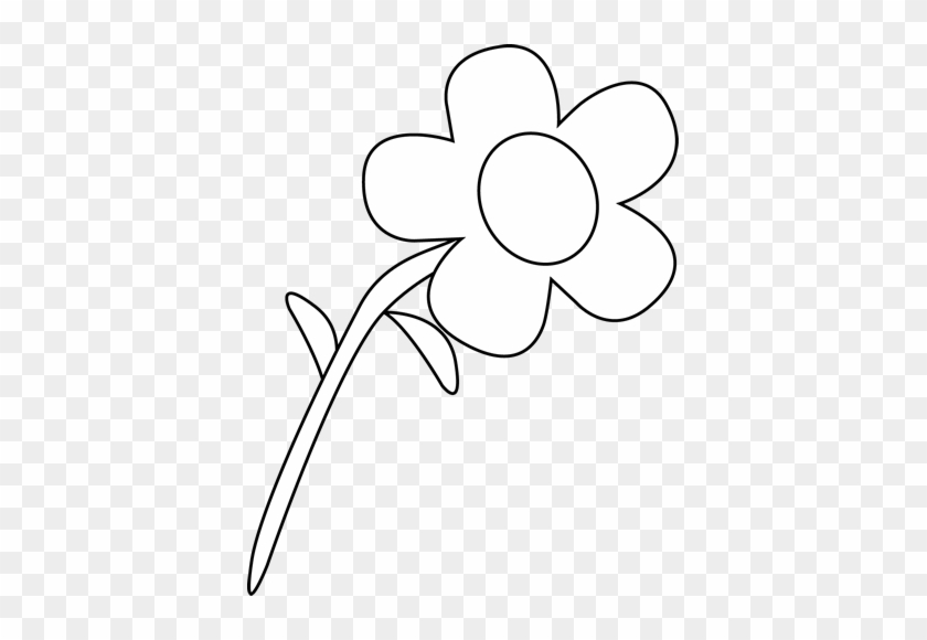 Black And White Flower Clip Art - Mycutegraphics Flower Black And White #292182