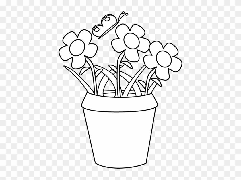 White flower clipart the garden clipart flower pot black and white white flower clipart the garden clipart flower pot black and white mightylinksfo