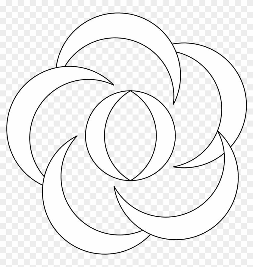 Black Flower Clip Art - Flower #292227