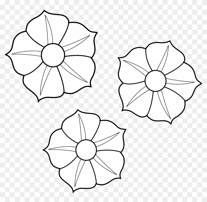 Flower Clip Art Coloring Pages - Flower Clip Art Coloring Pages #292234