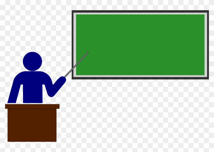 Teaching Clip Art Pictures - Teacher Pointing To Board #292245