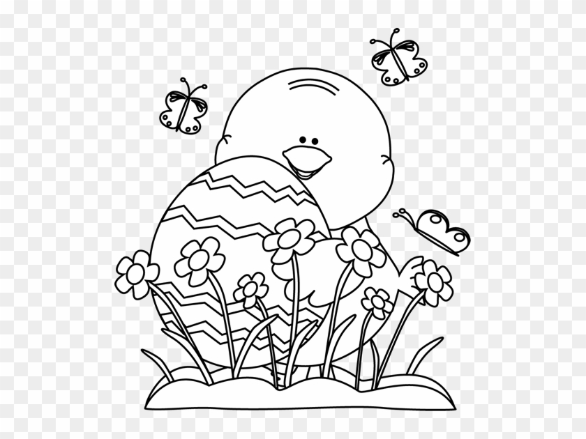 Perfect Flowers Clipart Black And White Position Wedding - Easter Black And White Clipart #292250