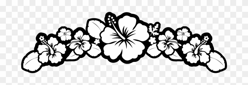 White Flower Clipart Luau Flowers Clipart Black And White Free