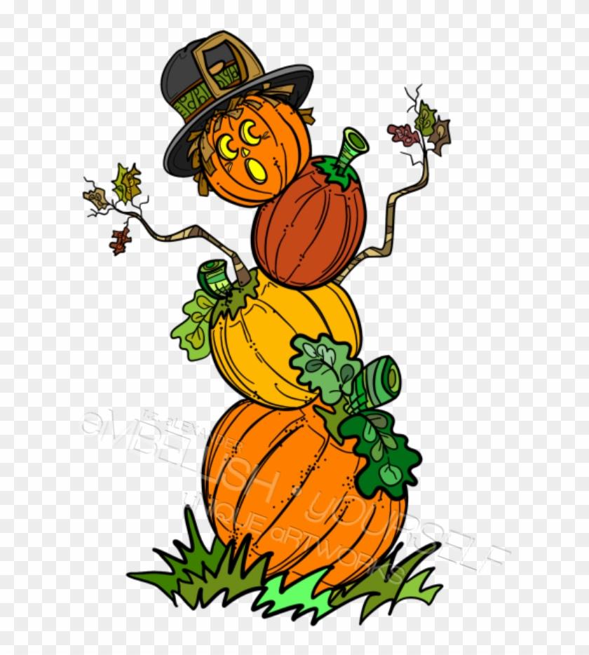Pumpkin Man Clipart Created By Rz Alexander, Embellish - Clip Art #292332