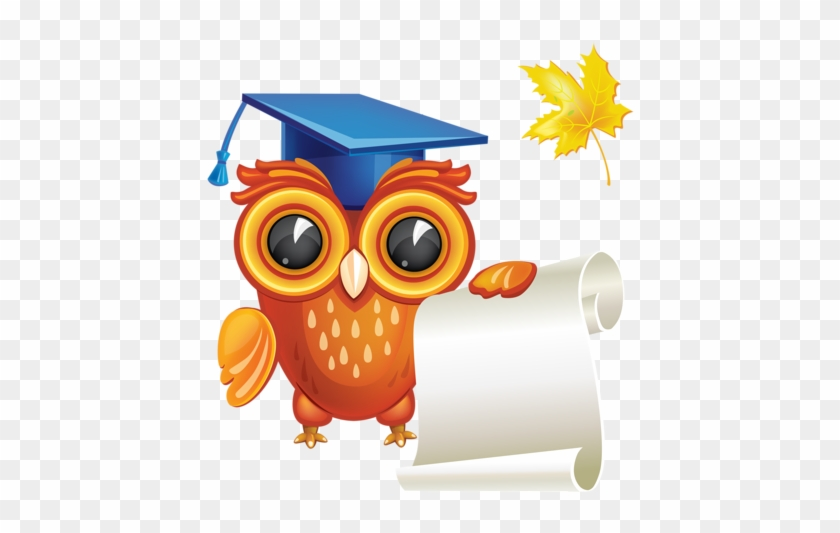 Crafts - Owl With Diploma Png #292408