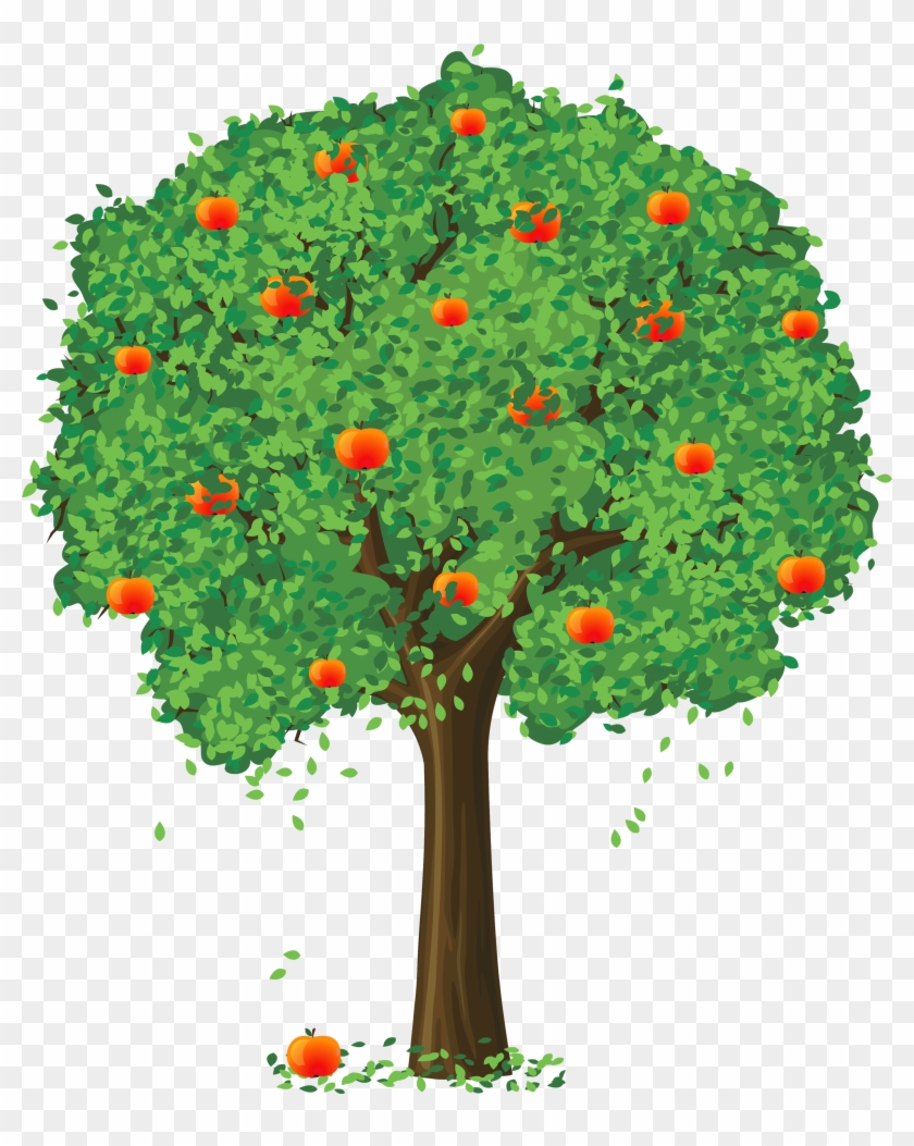 Orange Flower Clipart Apple - Tree Vector #292452