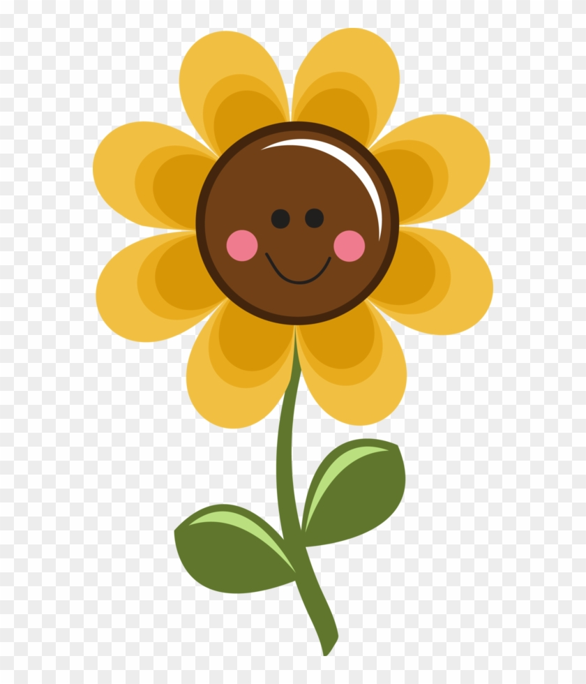 ‿✿⁀flᎧᏇers‿✿⁀ - Cute Smile Flower Clipart #292458