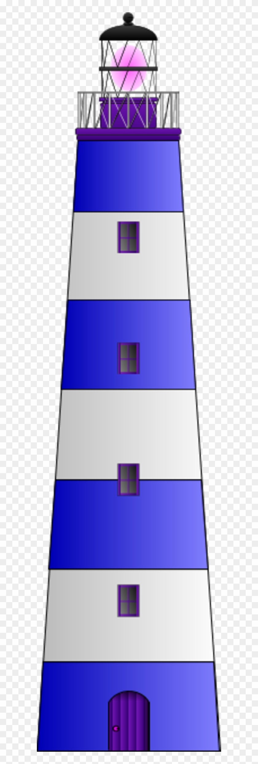 Blue And White Lighthouse #292489