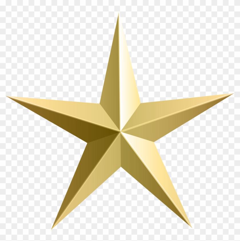 Gold Star Transparent Clip Art - Gold Star Transparent Clip Art #292520