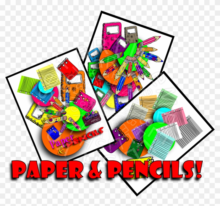 Great School Supplies Graphics Created By Rz Alexander, - Graphic Design #292512