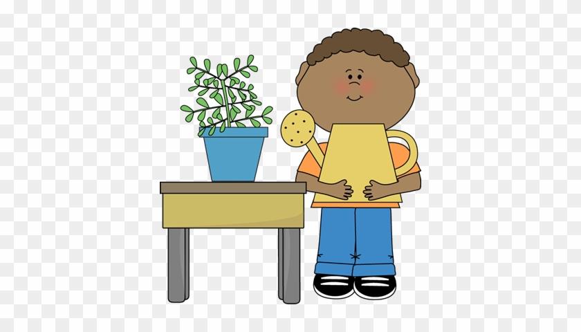 Boy Classroom Plant Helper Clip Art - Plant Helper Clipart #292556