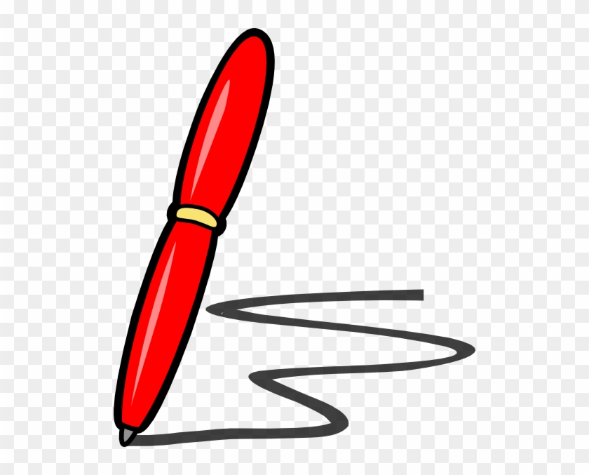 Red Pen Clipart - Red Pen Clipart #292602