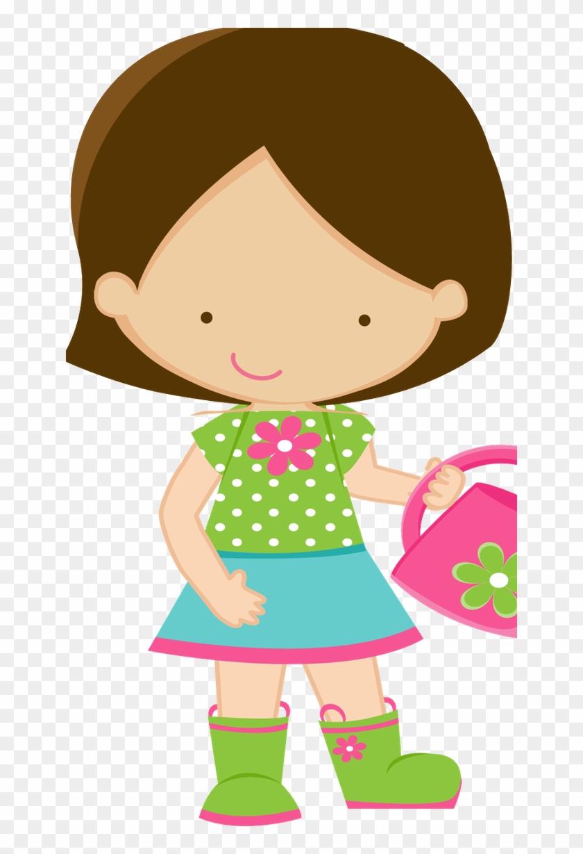 School Clipart, Girl Clipart, Sticker Ideas, Clip Art, - Menina Clipart #292634