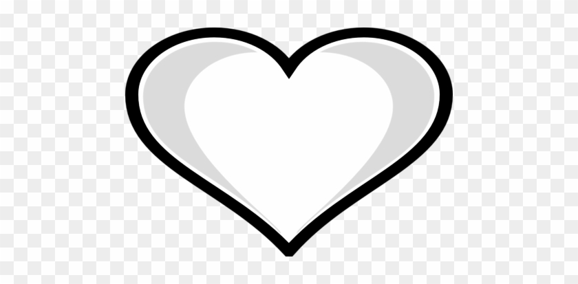 Coloring Trend Medium Size Heart Outline Clip Art Highlight - Heart Coloring Pages #292902