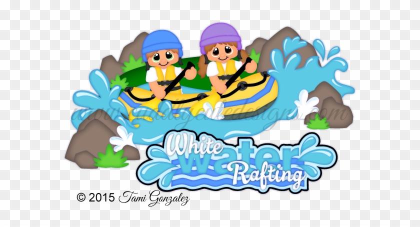 White Water Rafting - Cartoon #293149