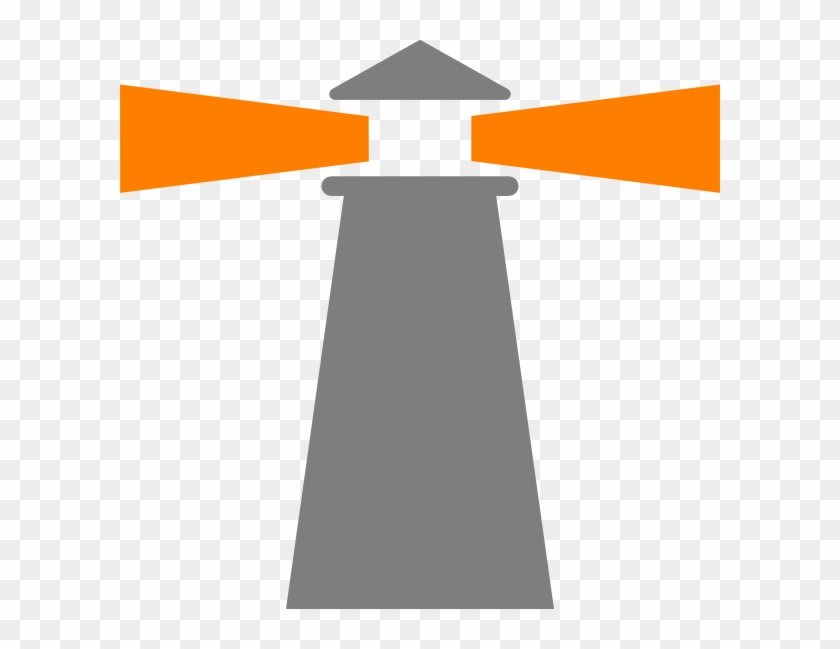 Lighthouse Grey-orange Clip Art At Clker - Public Security #293355