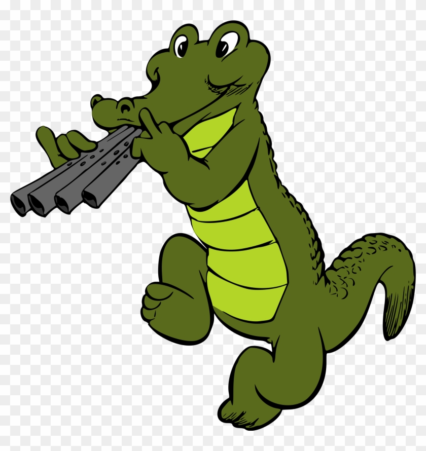 Cartoon Alligator Clipart - Crocodile Clipart #293777