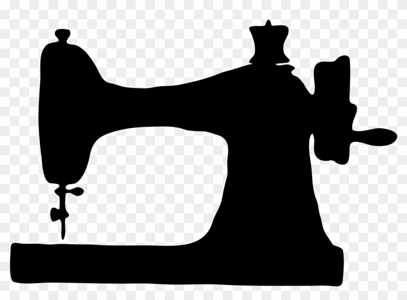 Sewing Machine Png - Sewing Machine Silhouette Png #293795