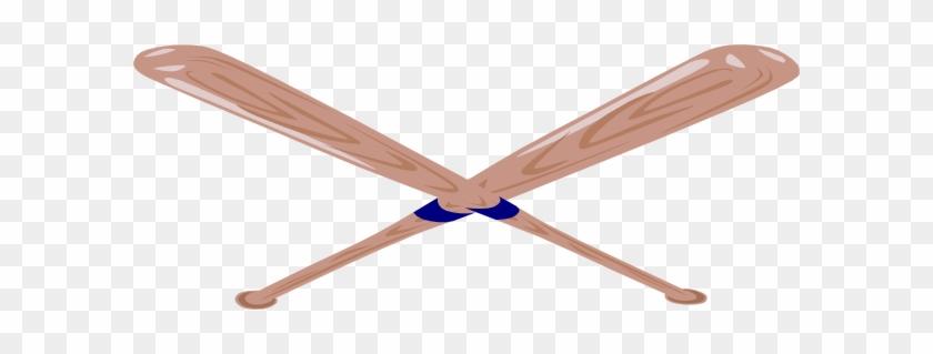 Stick Baseball Free Download Clip Art Free Clip Art - Baseball Bats Crossed #293890
