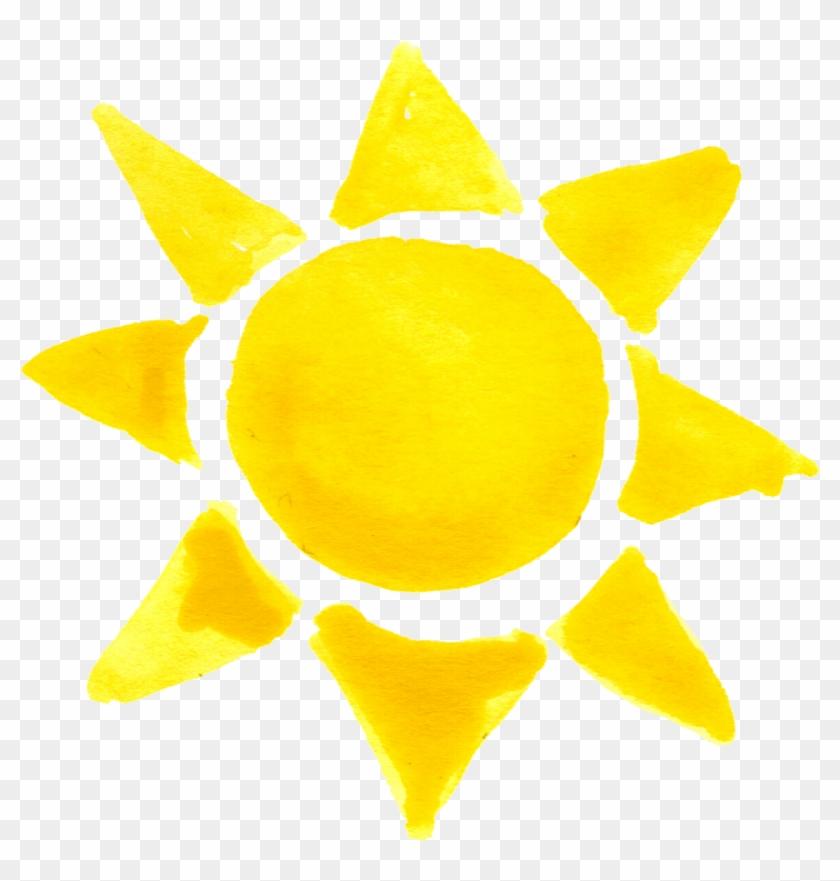 Free Download - Sun Crayon Drawing Png - Free Transparent PNG