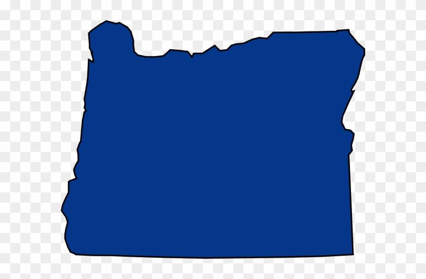 Esca Oregon Clip Art At Clker - Oregon State Outline Blue #294212