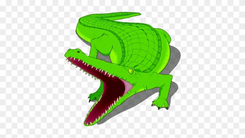 Funny Alligator Clip Art Crocodile Pictures 5 - Cartoon Alligator Open Mouth #294261