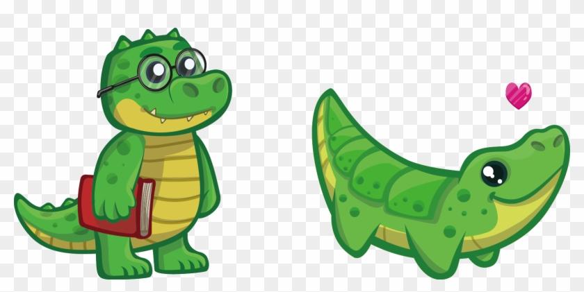 Nile Crocodile Alligator Cuteness Reptile Clip Art - Cartoon Dinosaur With Glasses #294266