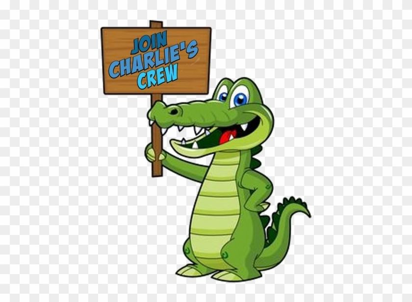 Click Here To Join Charlie's Crew - Alligator Clip Art #294290