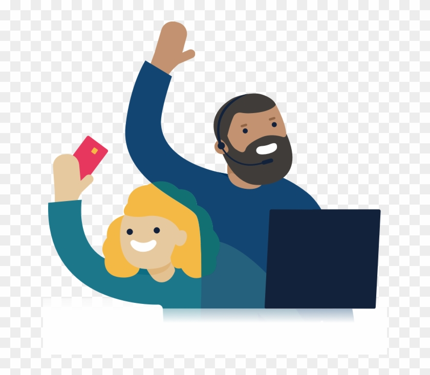 Illustration Of Two Monzo Customer Support Agents - Customer Service #294359