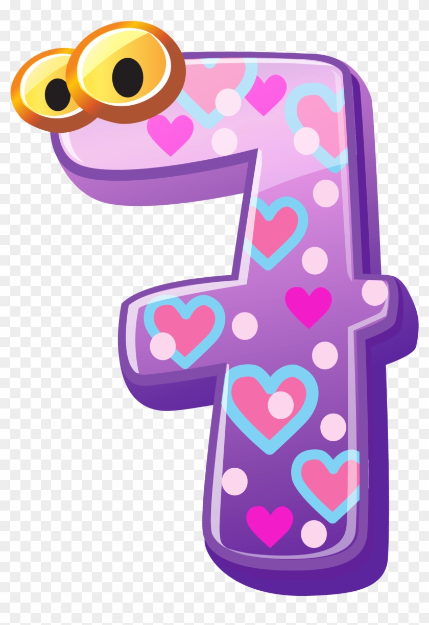 Individual Numbers Clipart - Cute Number 1 10 #294373